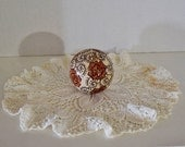 Vintage Hand Painted 3 Inch Ceramic Ball Decorator Piece or Paperweight
