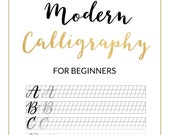 Modern Calligraphy Practice Sheet - Downloadable Calligraphy Practice Sheet - Hand Lettering Grid Font