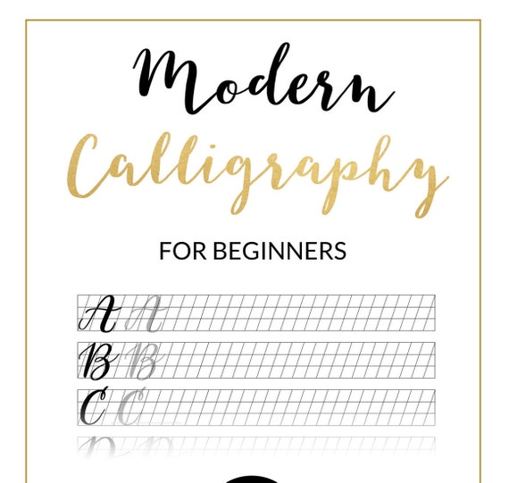 Modern Calligraphy Practice Sheet Downloadable Calligraphy