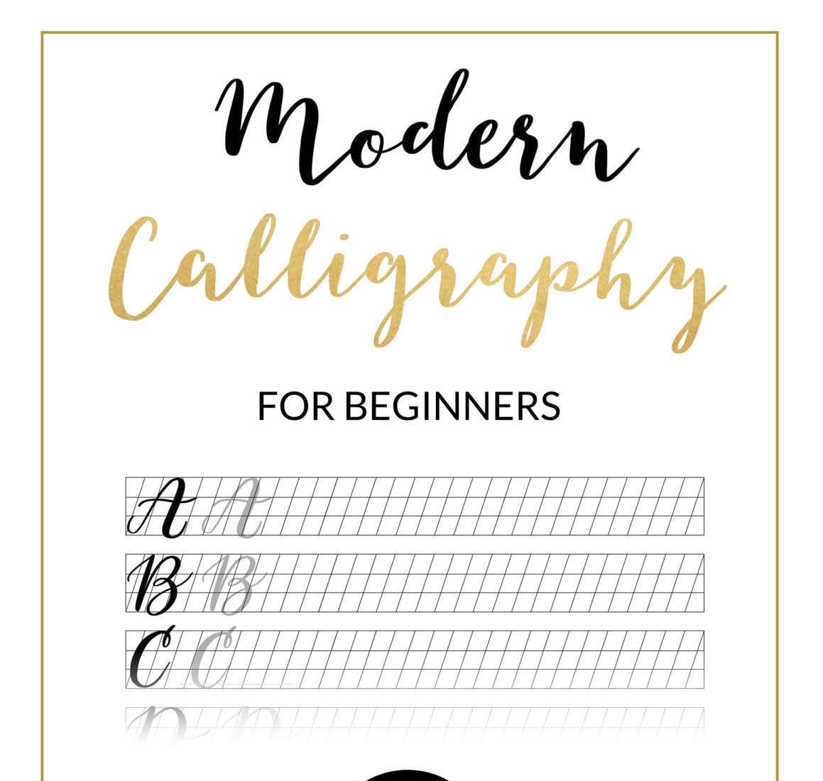 Modern Calligraphy Practice Sheet