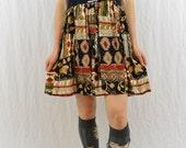 Upcycled Ying Yang Babydoll Dress, Size XS-Medium, Grunge, OOAK, Balance, Festival Clothing, Hippie, Boho, Tumblr Clothes