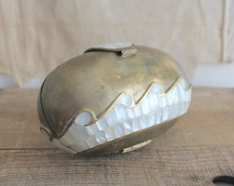 Vintage Brass And Mother Of Pearl Purse Sold As Is