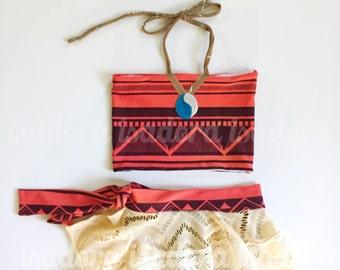 Girls Polynesian Princess swimsuit