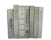 Gray  Taupe Vintage Decorative Books , Gray Book Home Decor ,  Vintage books for Wedding Decor