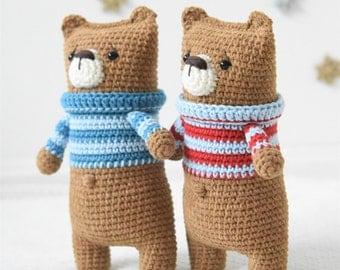 PATTERN - Lazybones bear - amigurumi pattern, crochet pattern, PDF