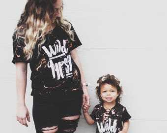 Mommy +  Me Matching  Gypsy Sets, Rocker Tee, Wild Gypsy Tee, Cut out Neckline, Twinning Set, Mommy and Me Tees, Matching Tees Set