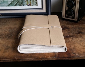 Large Leather Journal, Light Brown Hand-Bound 6 x 9 Journal by The Orange Windmill on Etsy 1795