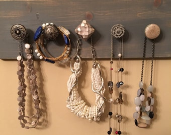 Rustic Wood Jewelry Holder