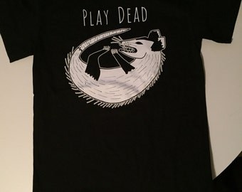 Play Dead Opossum Shirt by Alex Bandow
