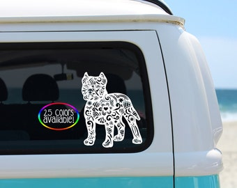 Pitbull Decal, Pit Decal, Pitty Decal, Vinyl Decal, Car Decal, Zentangle Decal, Pitbull Lover Decal, Laptop Decal, Zentangle Pitbull Decal