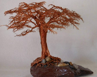 Wire Tree Sculpture,Wire Art,Metal Tree,Wire Trees,Wire Sculpture,Metal Sculpture,Copper Wire Art,Family Tree,Tree of Life,US Artist,