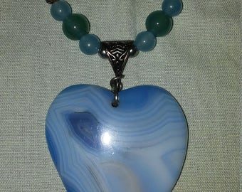 Blue heart of Agate