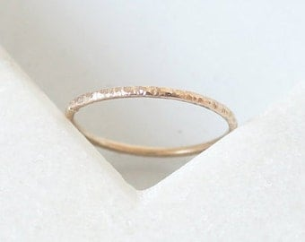 Textured Ring • Recycled 9K Yellow or Rose Gold