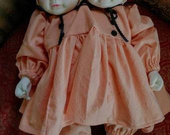 OOAK Conjoined Twins Art Doll