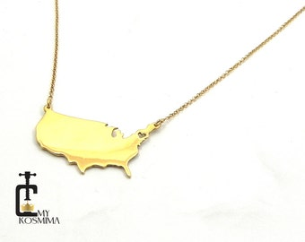 Country necklace, State necklace, Any state or country necklace, City necklace, Town necklace