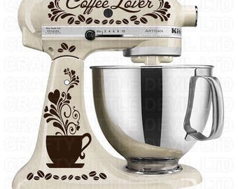 Coffee Mixer Decal