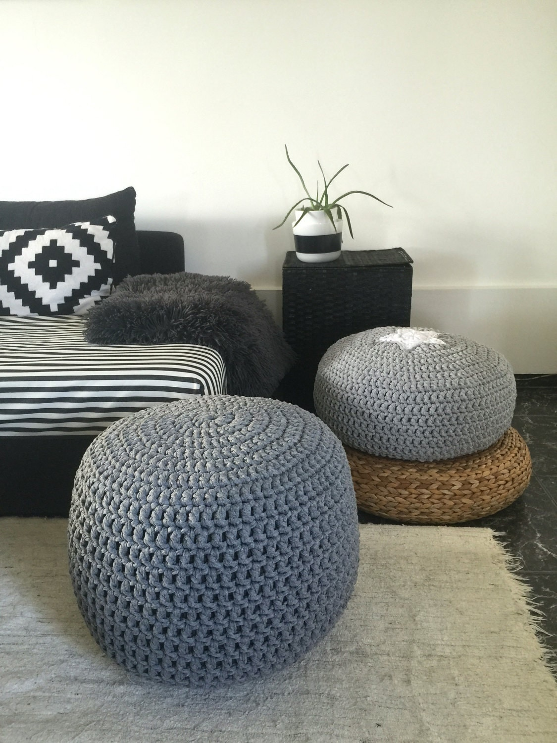 light grey pouf grey ottoman pouf ottoman floor. Black Bedroom Furniture Sets. Home Design Ideas