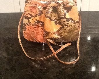 Vintage Morris Moskowitz Python Snakeskin Handbag