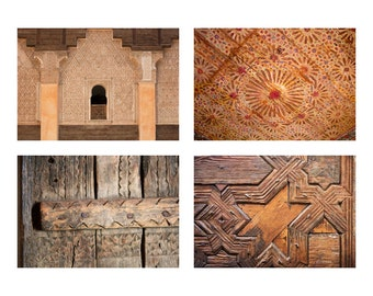 Rustic wall art, Set of 4 photographs, Gallery wall prints, Moroccan photography, Wall art prints, Moroccan art, Rustic Decor Art Print Set
