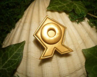 Republica Council Pin - Brooch of Airbender Tenzin - OOAK - Avatar - Legend of Korra