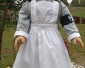 "World War I Vad Nursing Uniform - 18"" Doll Clothes - FREE SHIPPING"