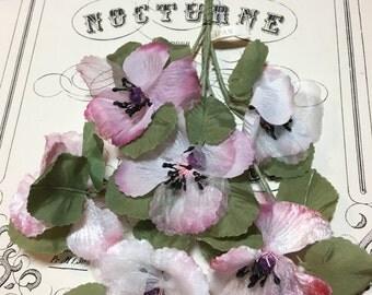 Vintage Millinery Flower spray - Anemone