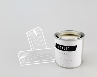 01 // Cedar - Half Pint (8oz) Scented Soy Candle in Paint Can