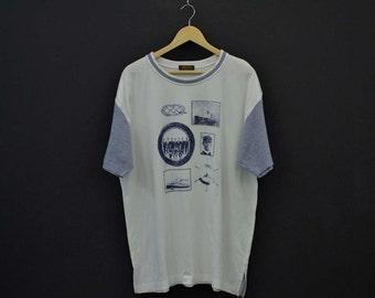 Aramis Shirt Vintage Aramis T Aramis White T Aramis Made in Japan Yachting T Aramis Sailing T Aramis Titanic Print Mens Size XL