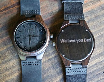 Personalized Watch, Mens Watch, Wooden Watch, Gift for Him, Wood Watch, Boyfriend Gift, Wedding Gift, Anniversary Gift, Groomsmens Gift