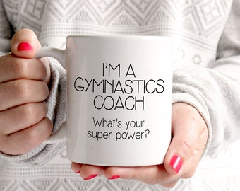 Gymnastics Coach Gift - Christmas Gift for Gymnastics Coach - Christmas Present for Gymnastics Coach - Gymnast Gift - Gymnastics Coffee Mug
