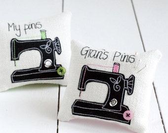 Personalised Sewing Machine Pin Cushion - Pin Cushion - Sewing Gifts - Sewing Accessories - Sewing Machine - Personalised Gift - Sewing