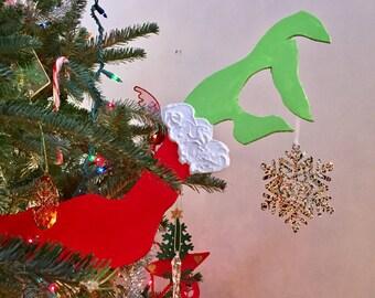 Grinch Hand Ornament Hanger