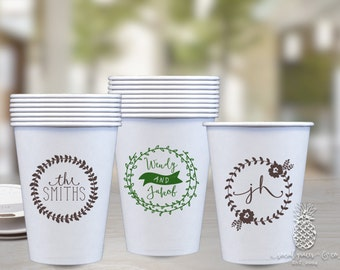 Paper Party Cups | Personalized Cup | Wedding Cups