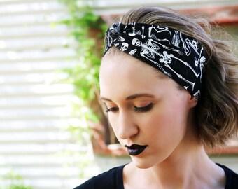 Skull Headband Adult, Halloween Vintage Headband, Gothic Headpiece, Gothic Hair Accessories For Women, Black Headband, Emo Clothing