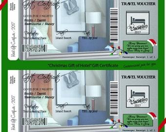 Hotel - Customized Gift Certificate  - Digital File