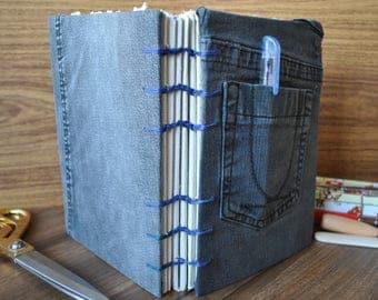 Coptic Stitch Jean Notebook Journal