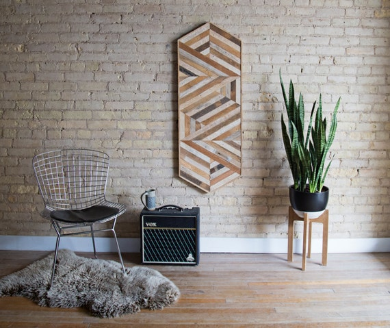 Reclaimed Wood Wall Art | Wood Wall Art  | Reclaimed Wood | Wood Art | Rustic| Geometric | Wood Decor | Diamond | Wall Decor | Modern