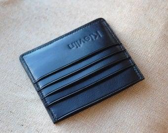 Black Leather Card Holder Card Holder Wallet Business Card Holder Credit Card Holder Card Holder Leather Card Holder Mens Card Holder Womens