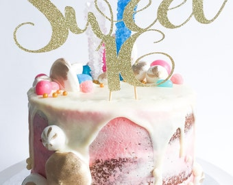 Sweet 16 Cake Topper • Sixteen Cake Topper • Custom Cake Topper • Birthday Cake Topper • Glitter Cake Topper