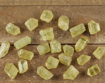 10g Medium YELLOW APATITE Crystals - Natural Apatite Rough, Chakra Crystal, Chakra Stone, Raw Apatite Jewelry Making, Healing Crystal E0071