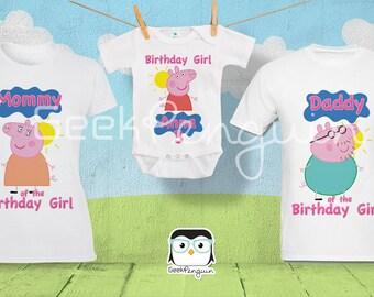 Peppa Pig Birthday Shirt Family Tshirts, Family Peppa Pig Shirts, Peppa pig family shirts, Peppa pig shirt, Peppa pig birthday