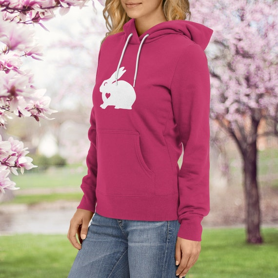 Hug your Bunny hoodie / Rabbit hoody / Bunny Lover / Rabbit gift / cottontail gift  / coney clothing / bunny birthday party / rabbit sweater