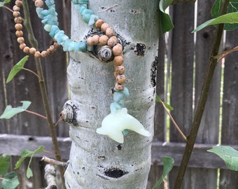 Serpentine Dolphin Totem Necklace