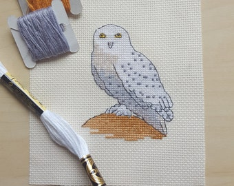 Wise old cross stitched owl