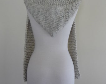 Hooded Scarf Chunky Knit Scoodie Teen Adult Warm Hooded Scarf - Wheat - Ready to Ship - Direct Checkout