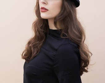 The Bellina Felt Hat, Classic Style, Winter Millinery, Womens Fashion.