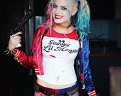 Harley Quinn Sequin hot pant shorts  Suicide Squad  As Infamous Harley Quinn