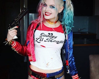 Harley Quinn Sequin hot pant shorts - Suicide Squad - As 'Infamous Harley Quinn'