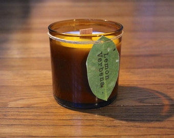 Wood Wick Candle - Lemon Verbena - 8 oz. Soy Candle - Woodwick Candle - Wildflower Seeds - Plantable Tag