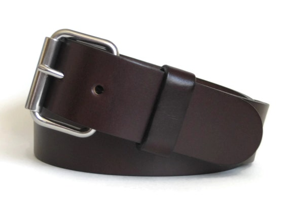 mens leather belt brown leather belt bridle by